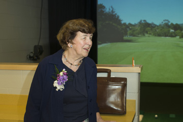 Indoor Golf Range Named for Longtime Supporter